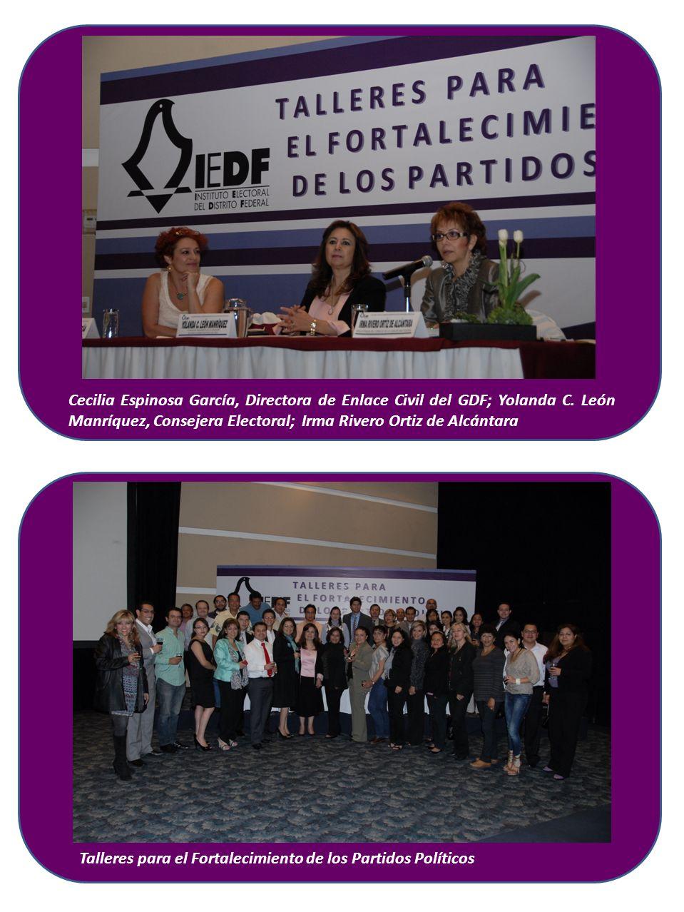 Cecilia Espinosa García, Directora de Enlace Civil del GDF; Yolanda C