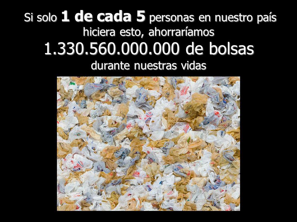 Si solo 1 de cada 5 personas en nuestro país hiciera esto, ahorraríamos 1.330.560.000.000 de bolsas durante nuestras vidas