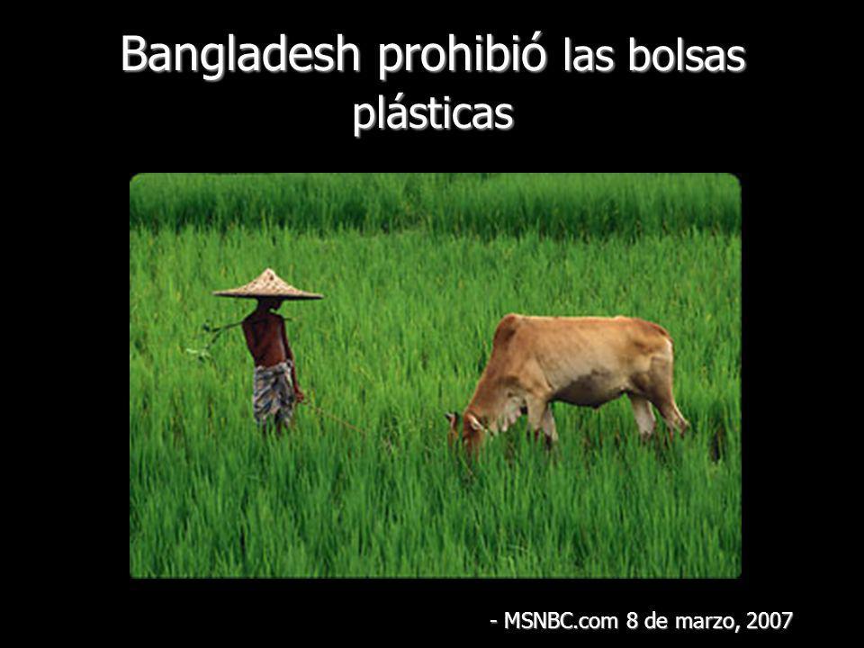Bangladesh prohibió las bolsas plásticas