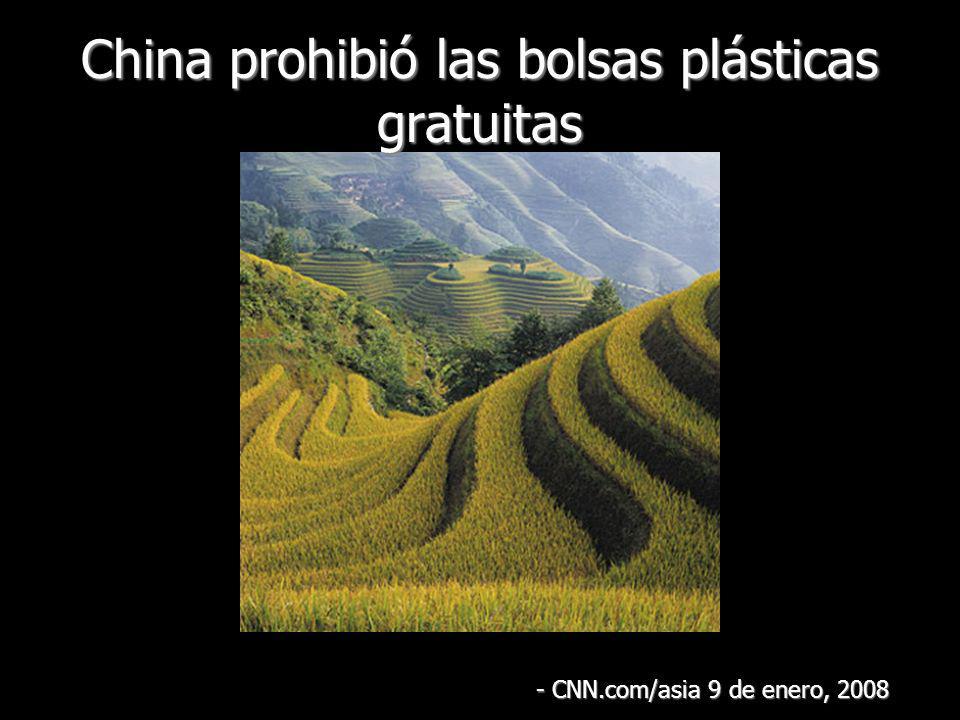 China prohibió las bolsas plásticas gratuitas