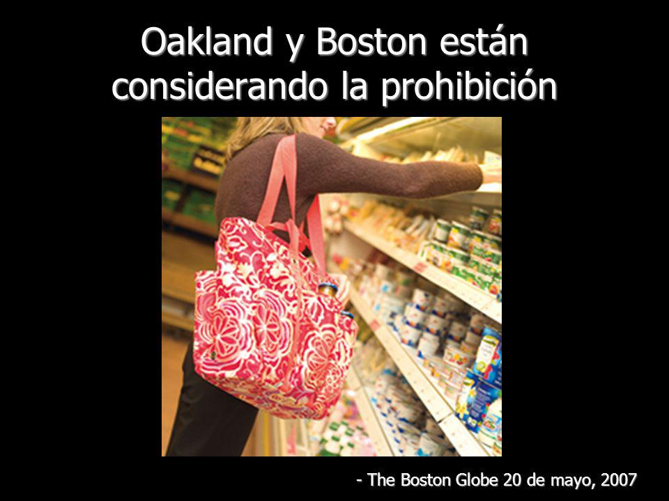 Oakland y Boston están considerando la prohibición