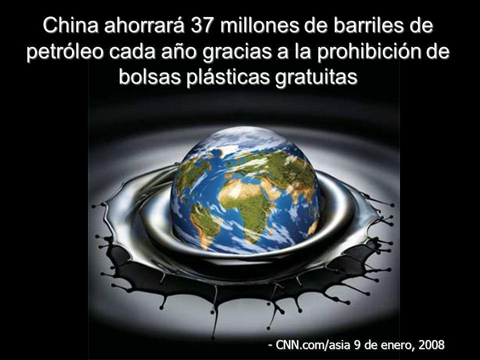 China ahorrará 37 millones de barriles de petróleo cada año gracias a la prohibición de bolsas plásticas gratuitas