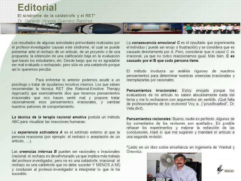 Editorial El síndrome de la catástrofe y el RET٭ Dr