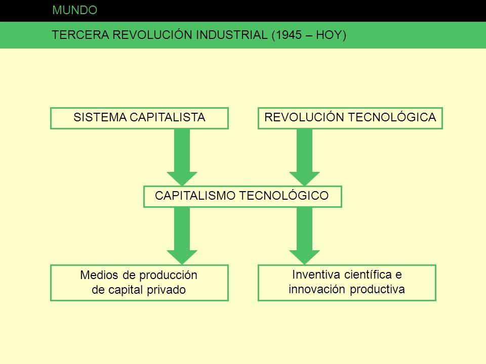 TERCERA REVOLUCIÓN INDUSTRIAL (1945 – HOY)
