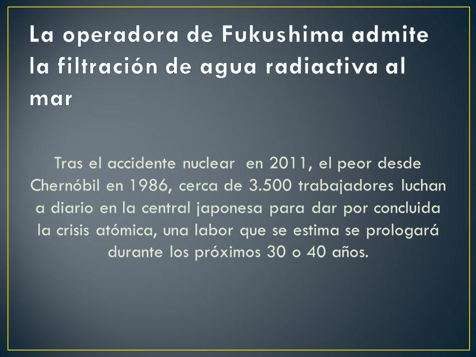 La operadora de Fukushima admite la filtración de agua radiactiva al mar