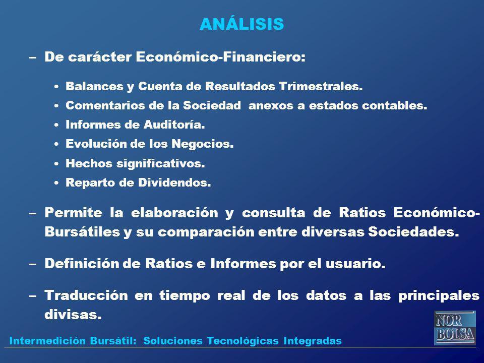 ANÁLISIS De carácter Económico-Financiero: