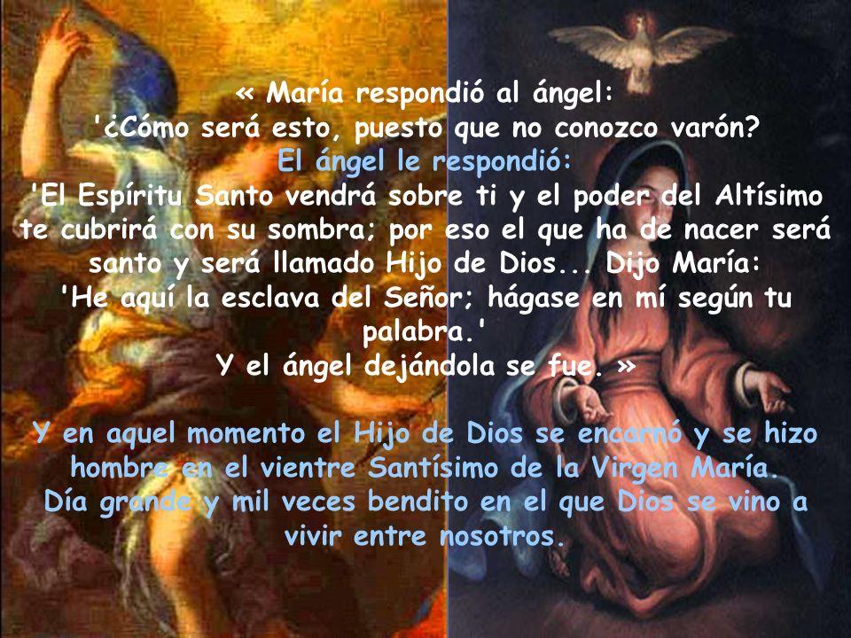 « María respondió al ángel:
