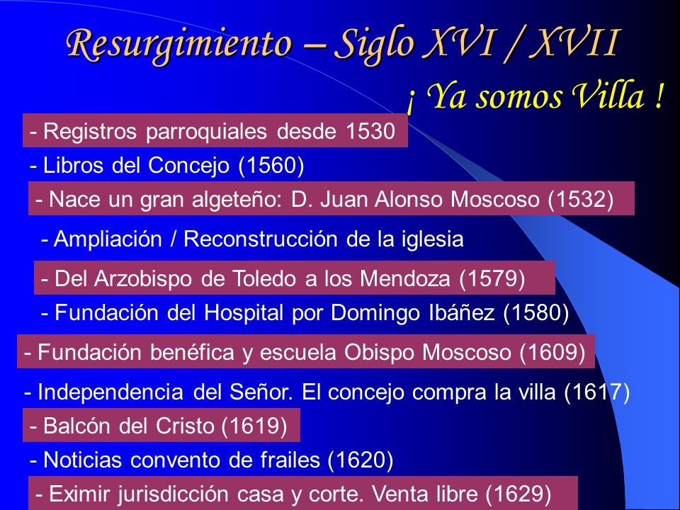 Resurgimiento – Siglo XVI / XVII