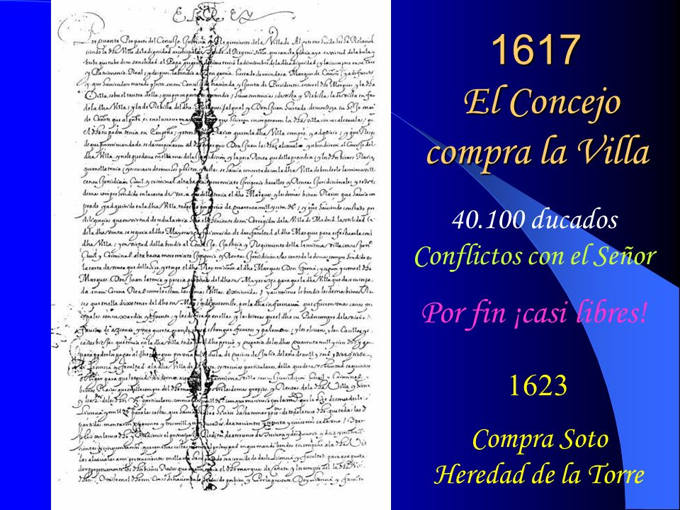 1617 El Concejo compra la Villa