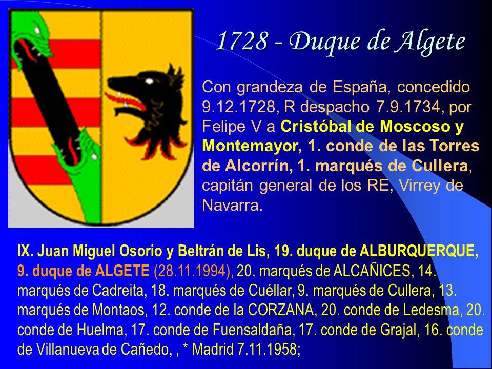 1728 - Duque de Algete