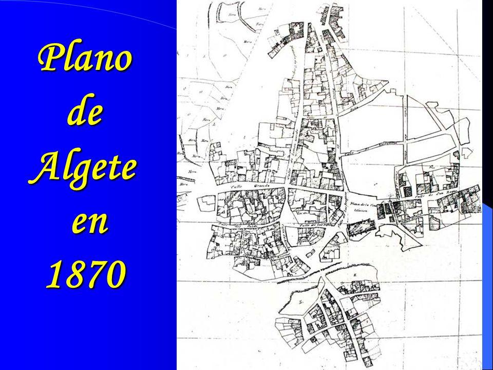 Plano de Algete en 1870