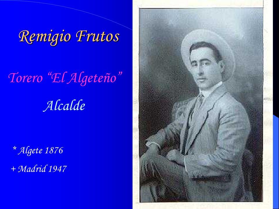 Remigio Frutos Torero El Algeteño Alcalde + Madrid 1947