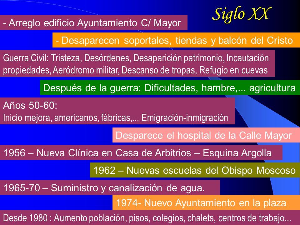 Siglo XX - Arreglo edificio Ayuntamiento C/ Mayor