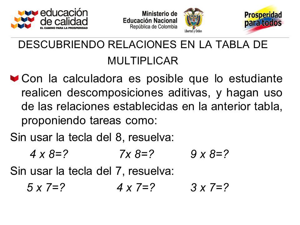 descubriendo relaciones en la tabla de multiplicar