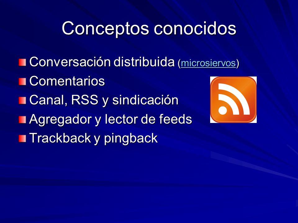 Conceptos conocidos Conversación distribuida (microsiervos)