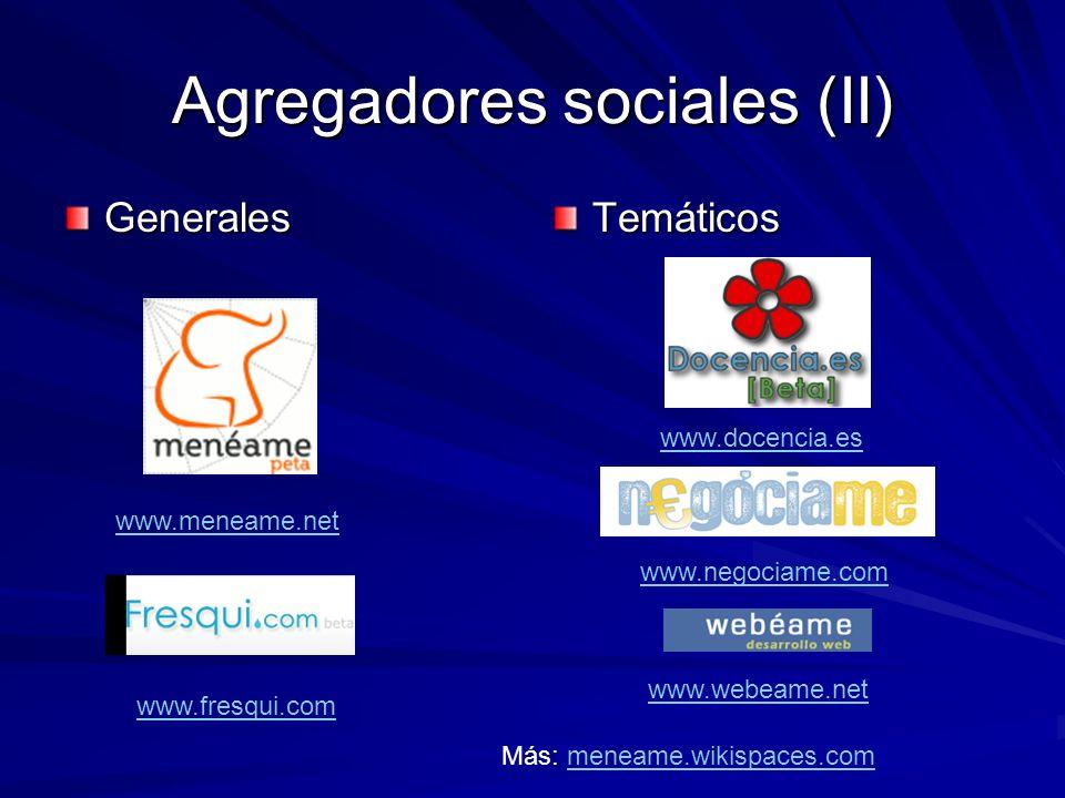 Agregadores sociales (II)