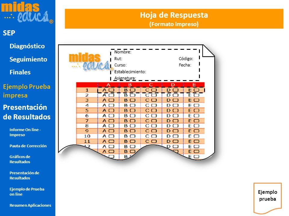 Hoja de Respuesta (Formato impreso)