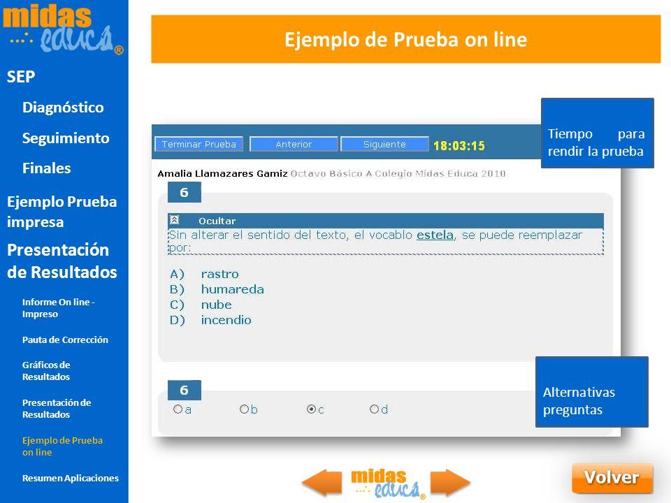 Ejemplo de Prueba on line