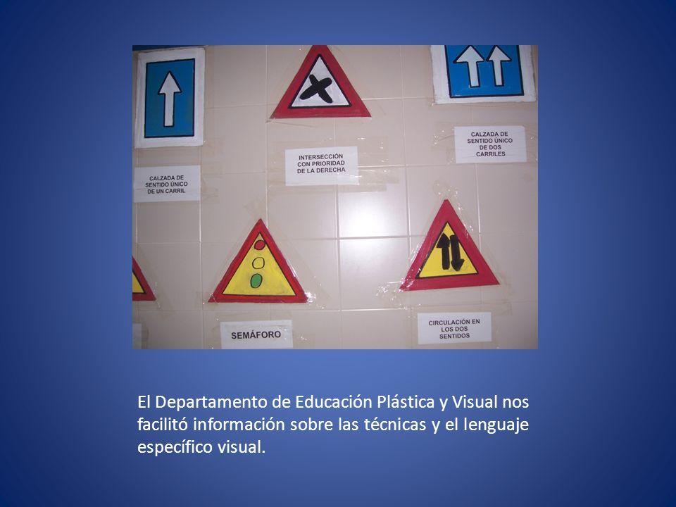 El Departamento de Educación Plástica y Visual nos facilitó información sobre las técnicas y el lenguaje específico visual.