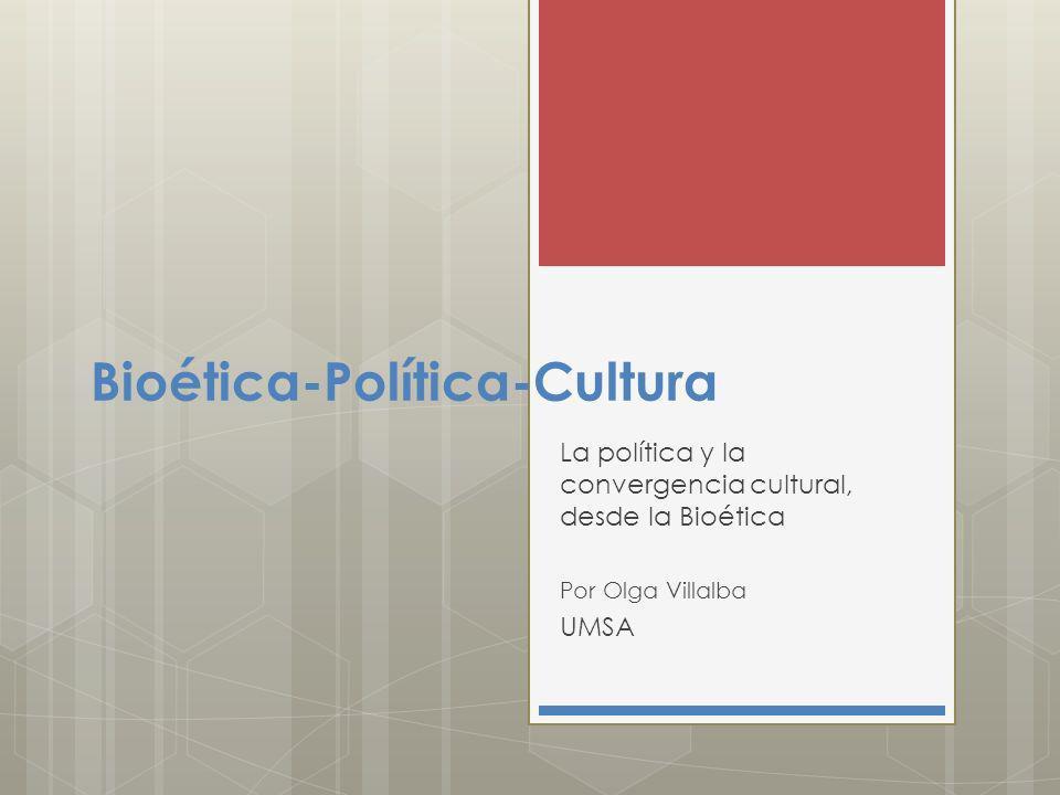 Bioética-Política-Cultura