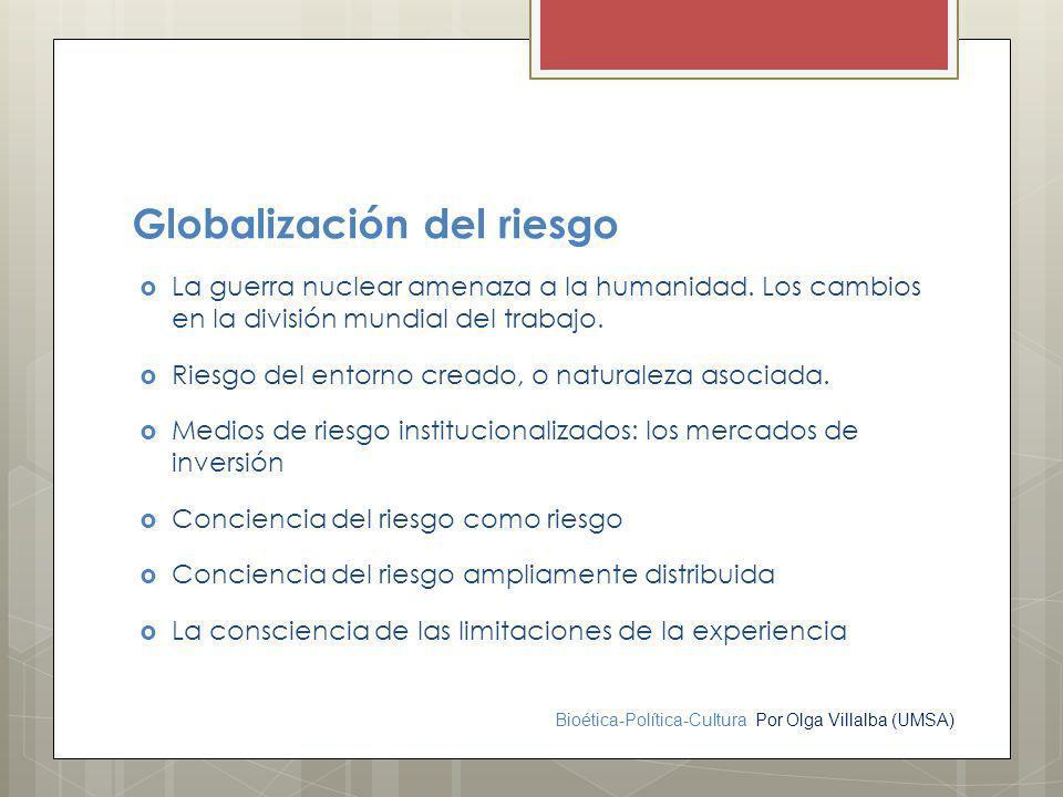 Globalización del riesgo