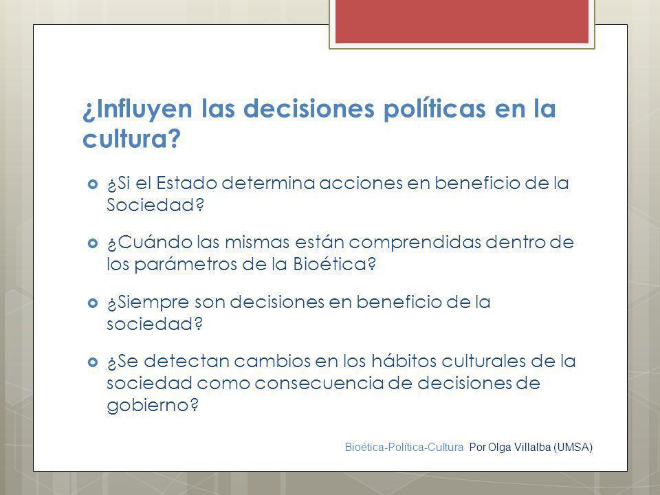 ¿Influyen las decisiones políticas en la cultura