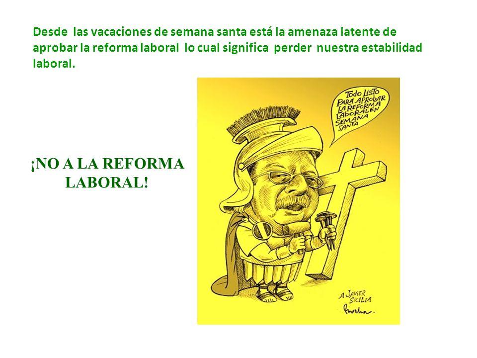 ¡NO A LA REFORMA LABORAL!