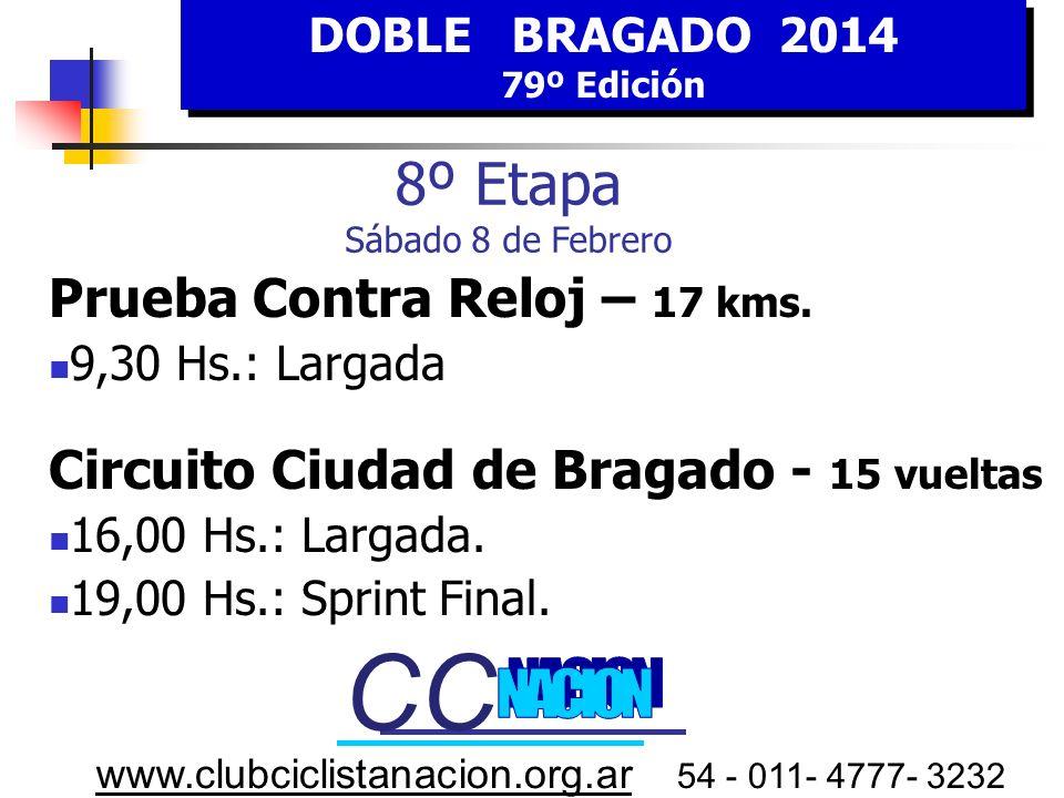 CC CC 8º Etapa Sábado 8 de Febrero Prueba Contra Reloj – 17 kms.