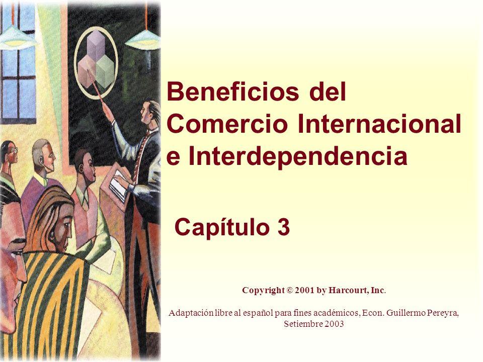 Beneficios del Comercio Internacional e Interdependencia