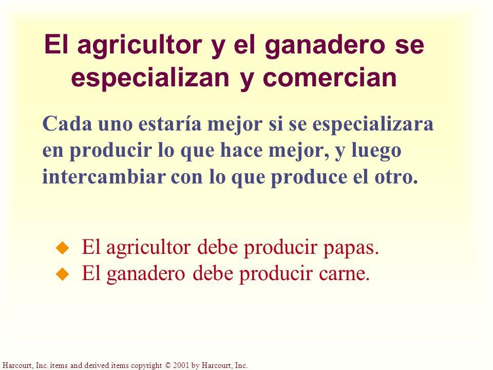 El agricultor y el ganadero se especializan y comercian