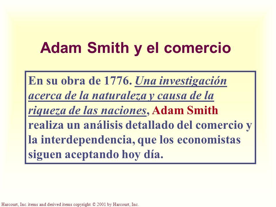 Adam Smith y el comercio