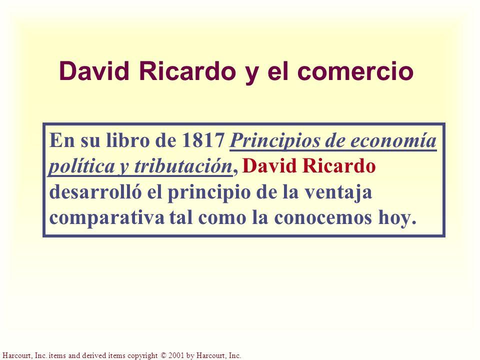 David Ricardo y el comercio
