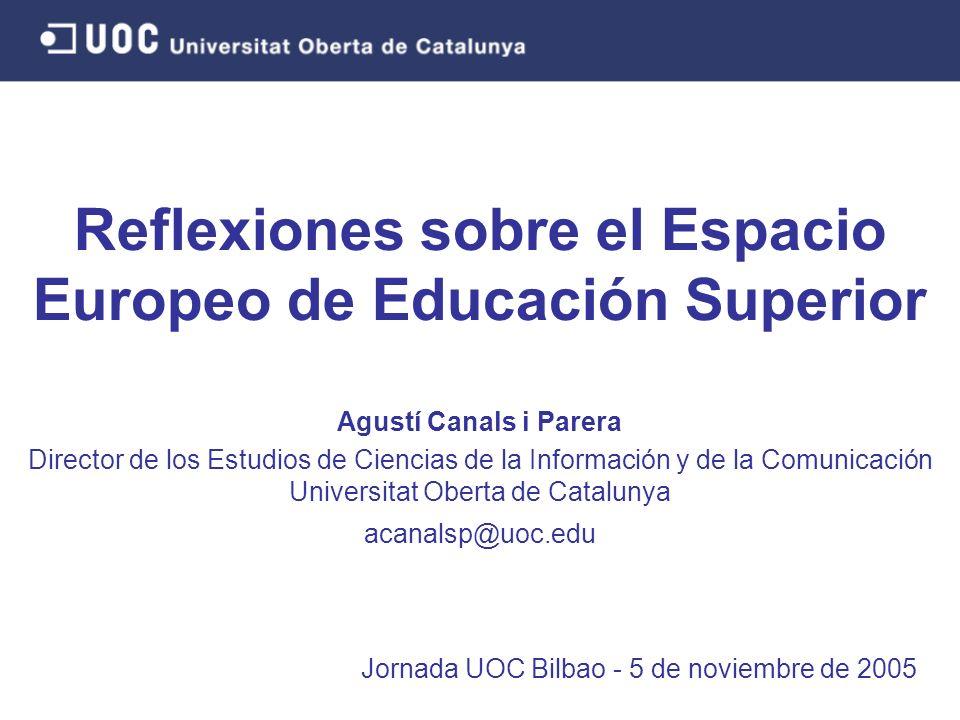 Reflexiones sobre el Espacio Europeo de Educación Superior