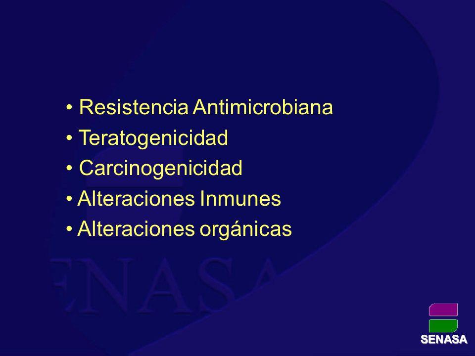 Resistencia Antimicrobiana Teratogenicidad Carcinogenicidad