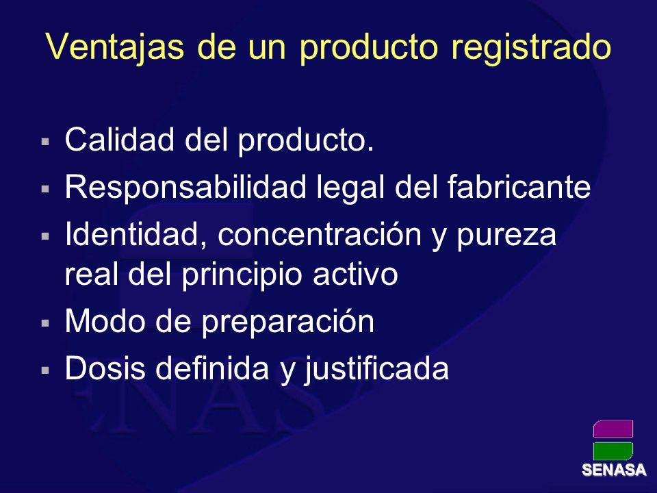 Ventajas de un producto registrado
