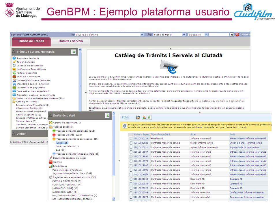 GenBPM : Ejemplo plataforma usuario
