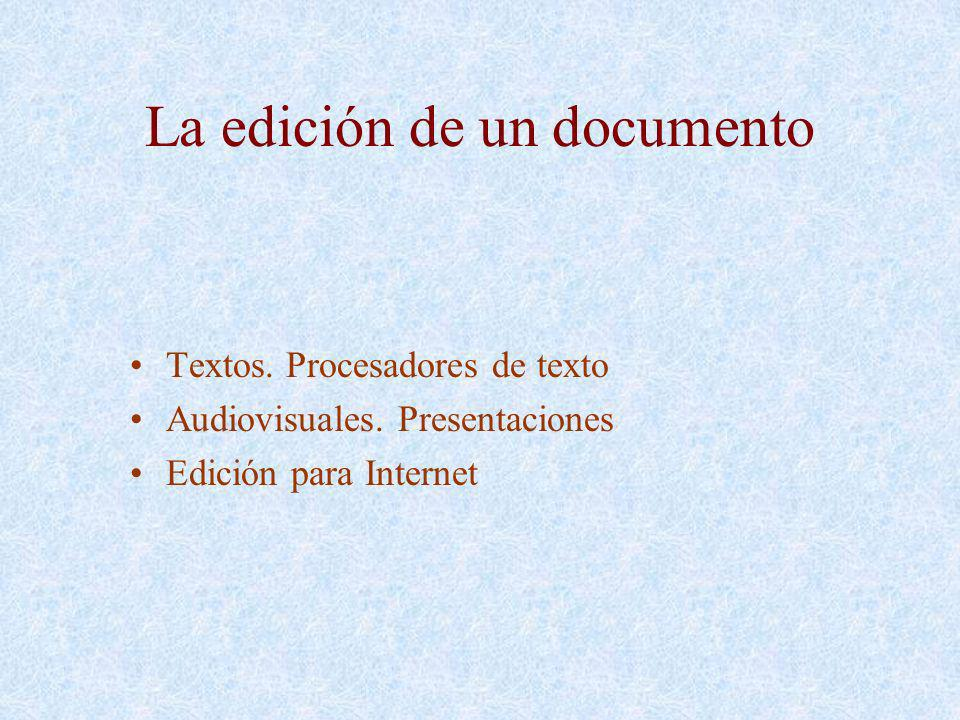 La edición de un documento