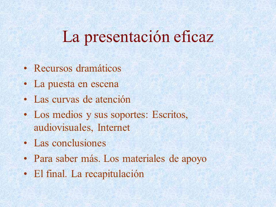 La presentación eficaz