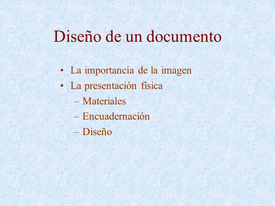 Diseño de un documento La importancia de la imagen