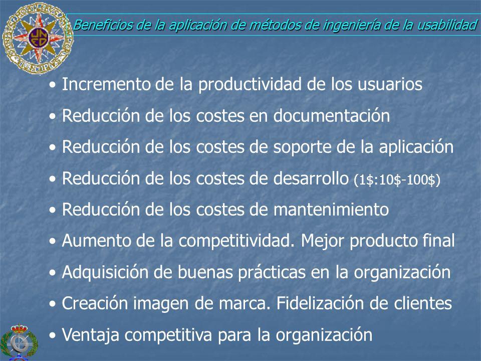 Beneficios de la aplicación de métodos de ingeniería de la usabilidad