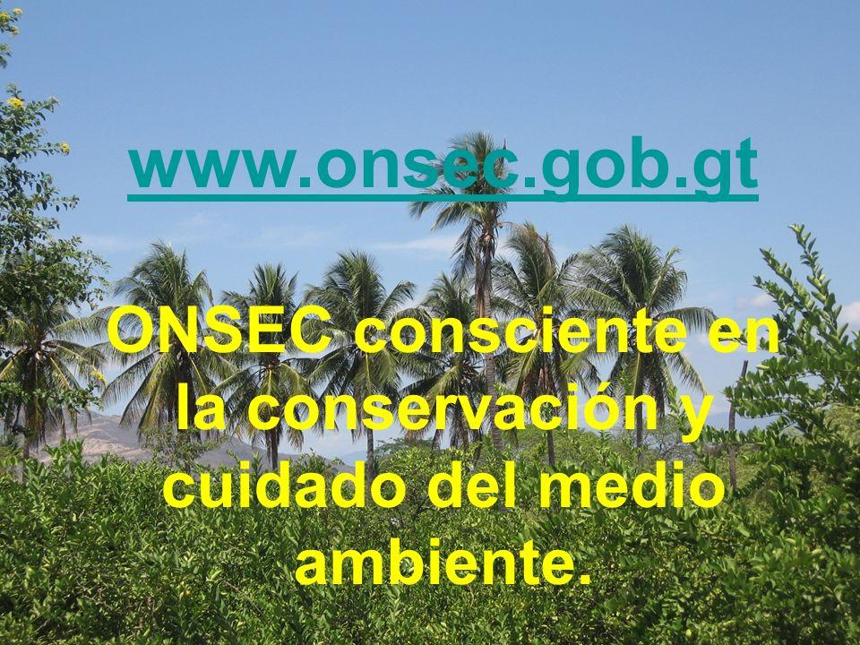 ONSEC consciente en la conservación y cuidado del medio ambiente.