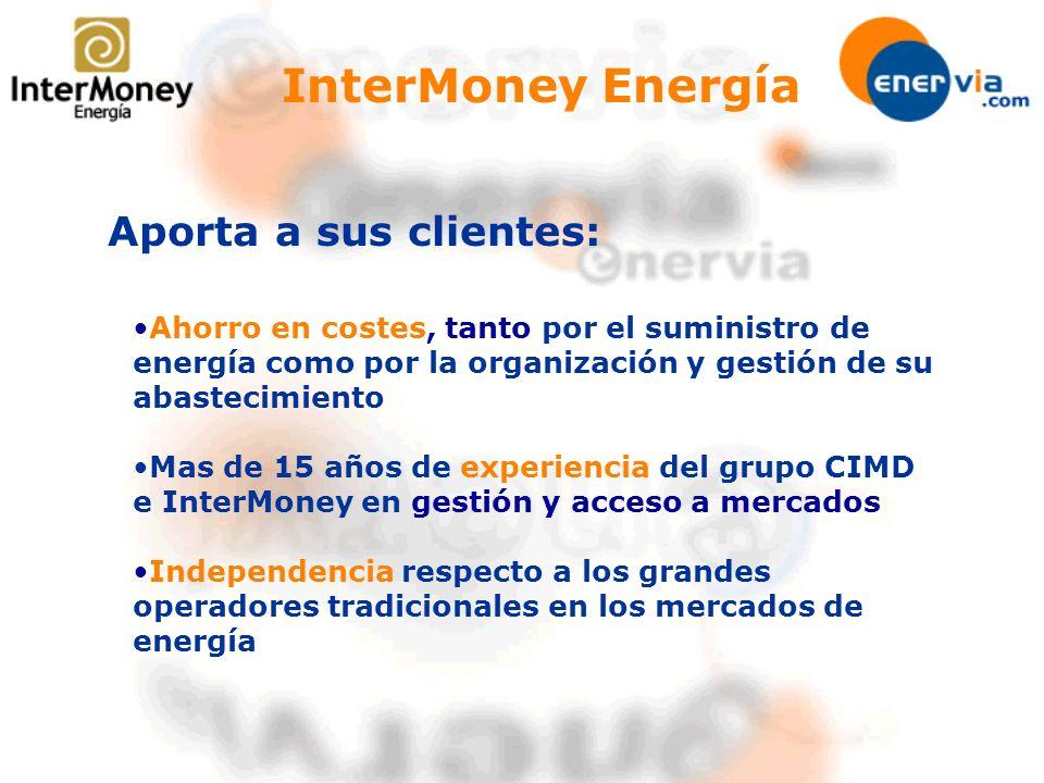 InterMoney Energía Aporta a sus clientes: