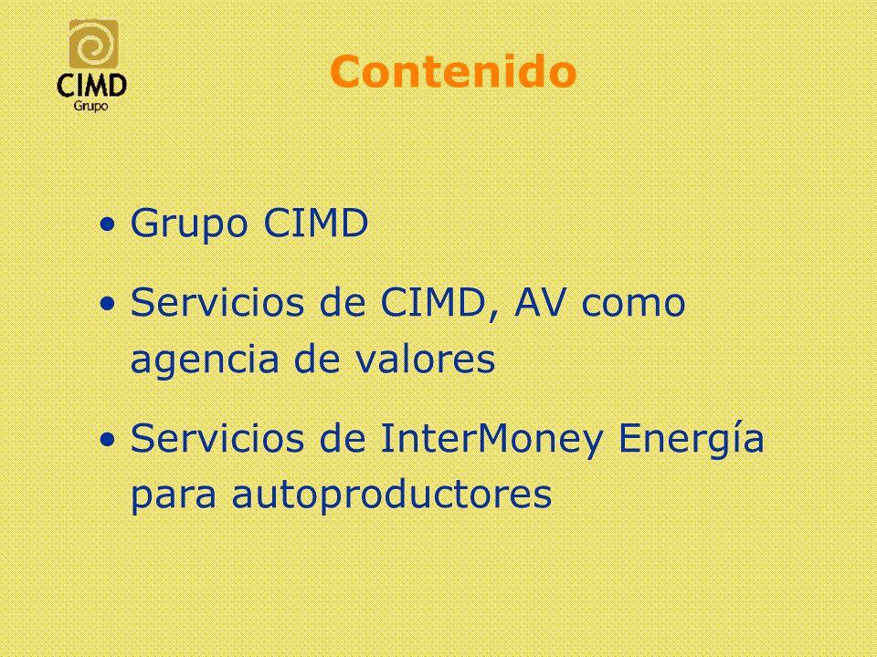 Contenido Grupo CIMD Servicios de CIMD, AV como agencia de valores