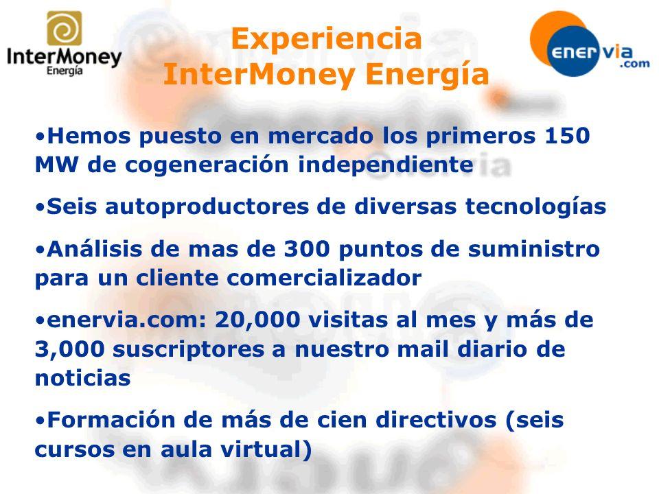 Experiencia InterMoney Energía