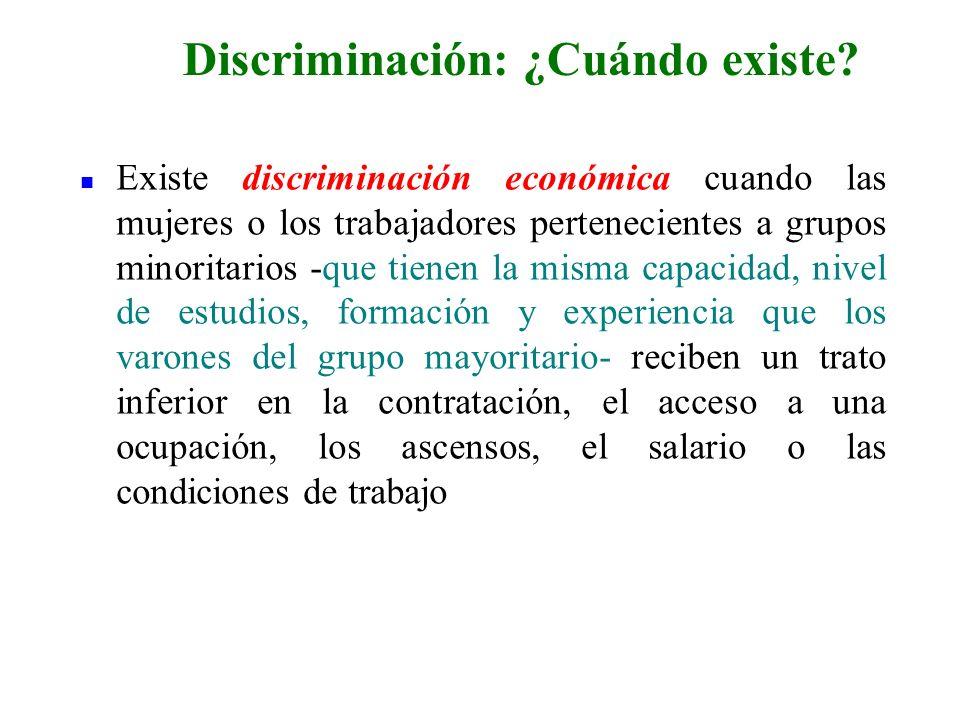 Discriminación: ¿Cuándo existe