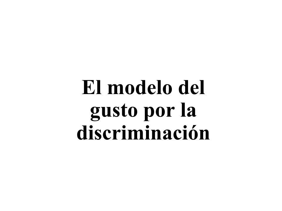 El modelo del gusto por la discriminación