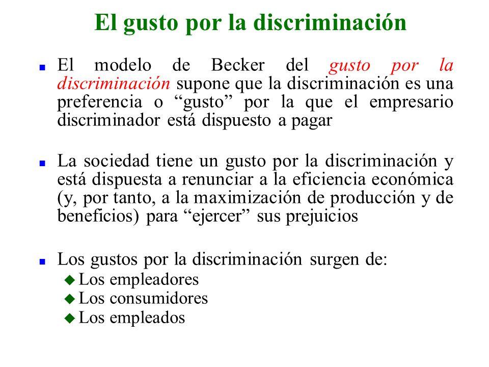 El gusto por la discriminación