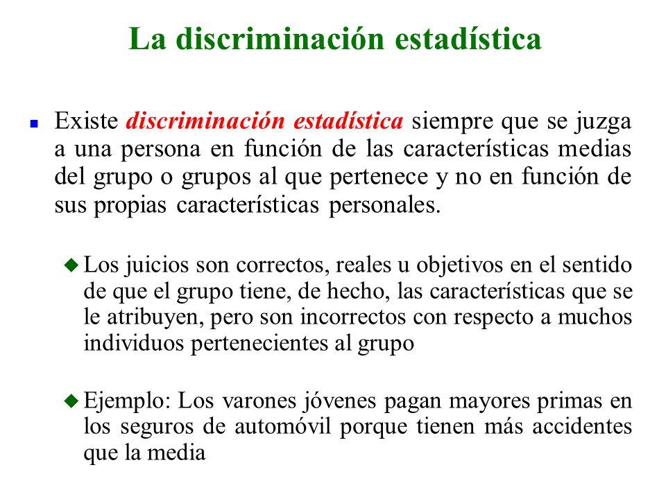 La discriminación estadística