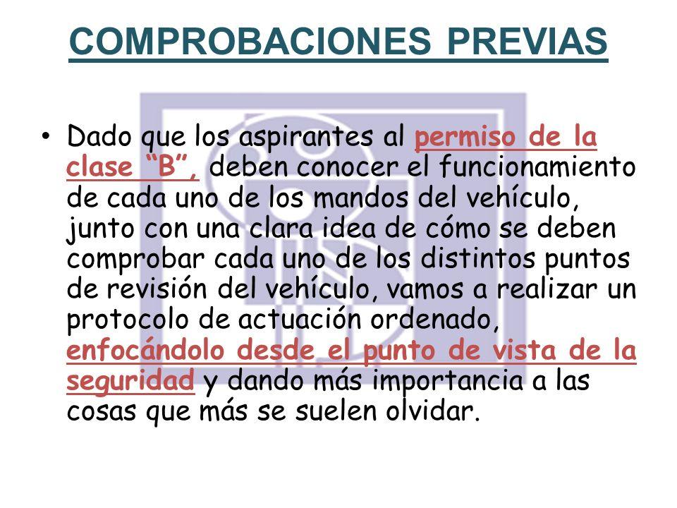 COMPROBACIONES PREVIAS