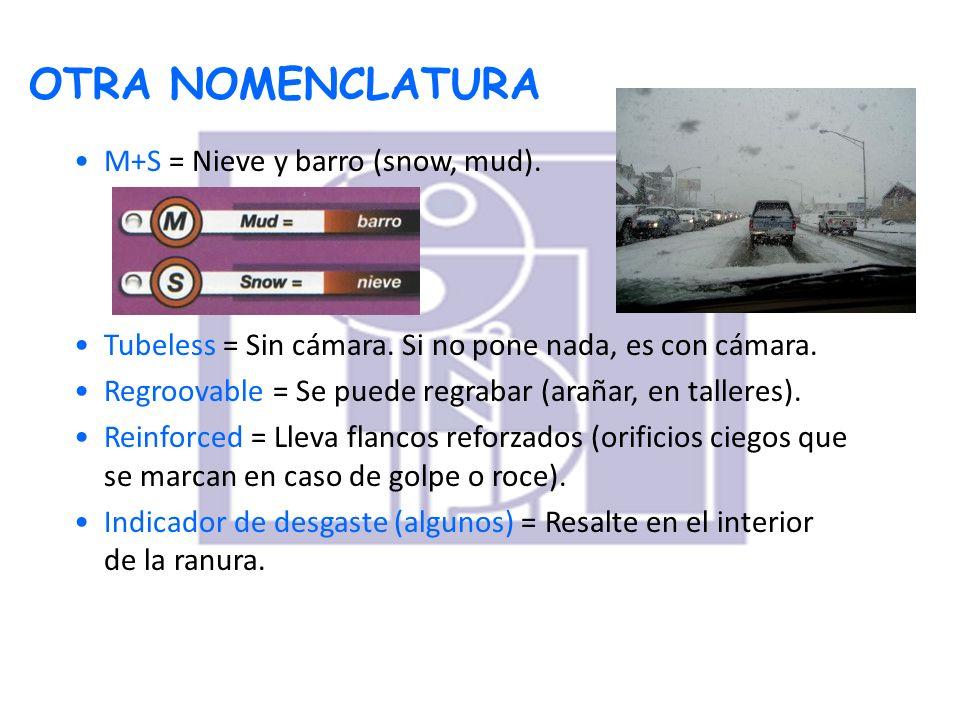 OTRA NOMENCLATURA M+S = Nieve y barro (snow, mud).